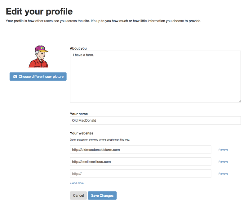 Edit your profile and settings: Getting started with Known