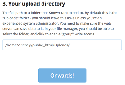 Your upload directory